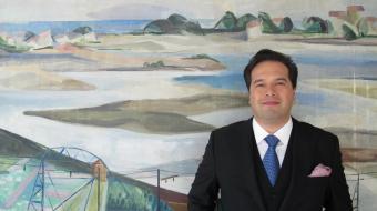 Robert Treviño en la Sede de la Orquesta Sinfónica de Euskadi