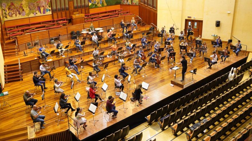 Euskadiko Orkestra se pone en marcha y se reúne en el escenario para ofrecer una mini-temporada de 8 conciertos